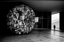"Silhouette and""Ball of books"" of Alicia Martín (Compostela, 2013)"